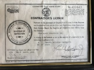 Richard Ditlevsen general contractors license at the age of 21